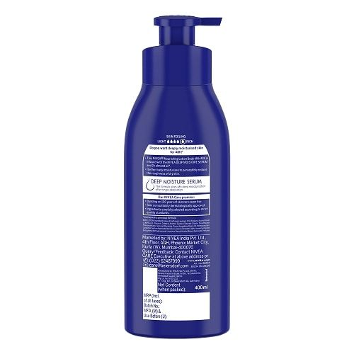 Nivea Body Lotion for Very Dry Skin, Nourishing Body Milk with 2x Almond Oil, For Men & Women, 400 ml