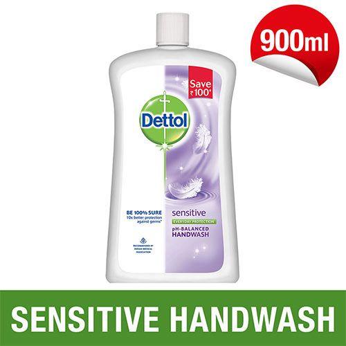Dettol Liquid Hand Wash - Sensitive, 900 ml Bottle