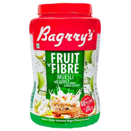 Bagrrys Fruit N Fibre Muesli - Apple, 1 kg Jar