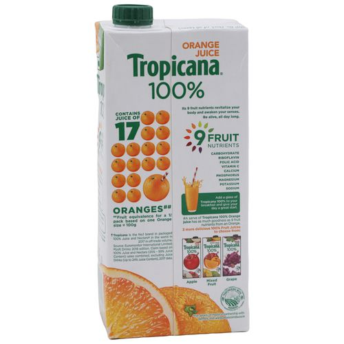 Tropicana 100% Juice - Orange, 1 L