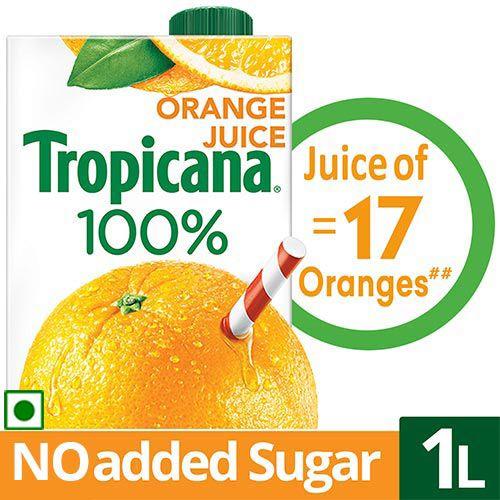 Tropicana 100% Juice - Orange, 1 L