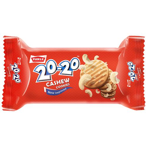 Parle 20-20 Cashew Cookies, 35 g Pouch