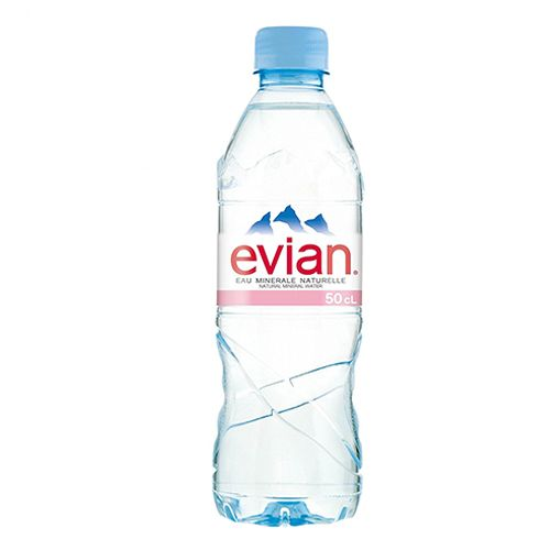 Evian Natural Mineral Water - Imported, 500 ml Bottle