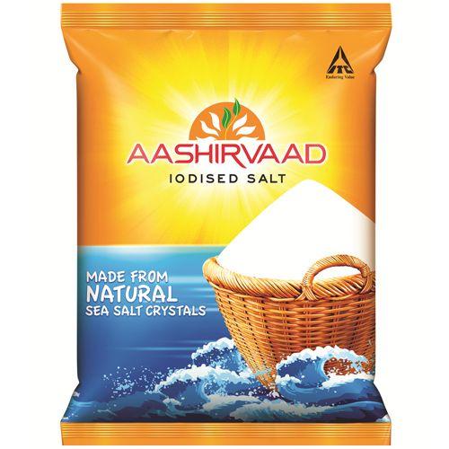 Aashirvaad Salt - Iodised, 1 kg Pouch