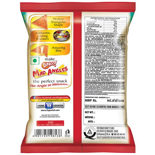 Bingo Mad Angles - Masala Madness, 80 g Pouch