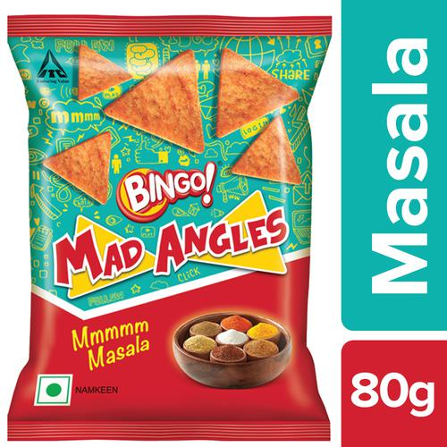 Bingo Mad Angles - Mmmmm Masala, 80 g Pouch