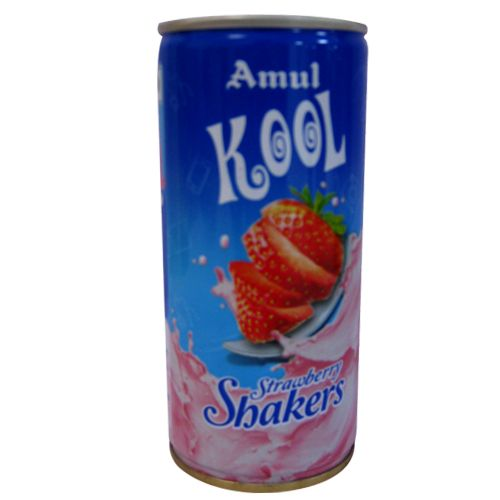Amul Kool Milk Shake - Strawberry, 200 ml Can