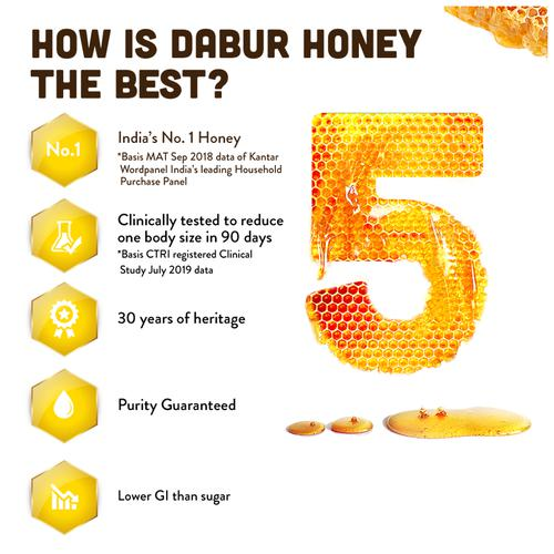 Dabur Honey - India 's No.1 Honey, 250 g (Get 20% Extra)