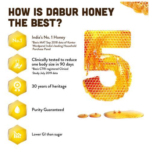 Dabur Honey - India 's No.1 Honey, 400 g (Buy 1 Get 1 Free)