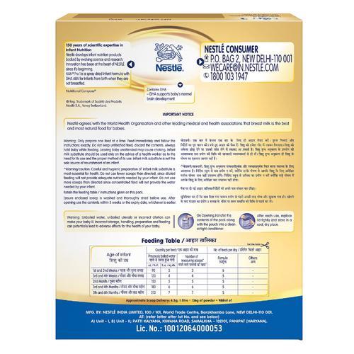 Nestle  Nan Pro 1 Infant Formula Powder - Upto 6 months, Stage 1, 400 g Bag-In-Box