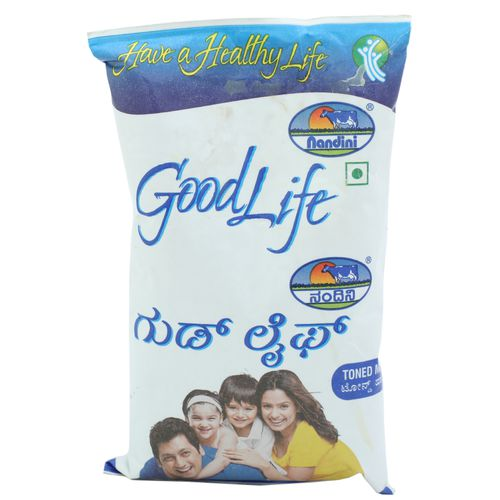 Nandini GoodLife Toned Milk, 500 ml Pouch