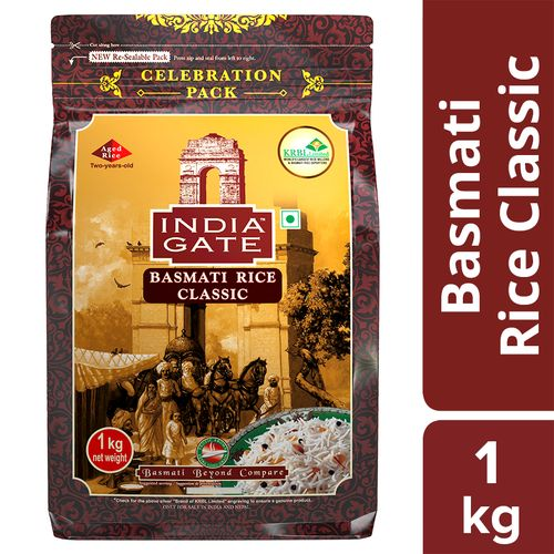 Buy India Gate Basmati Rice Classic 1 Kg Pouch Online At