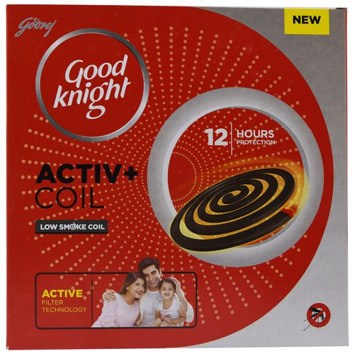 Good knight Activ+ Low Smoke Mosquito Coil with Power Formula, 10 Coils