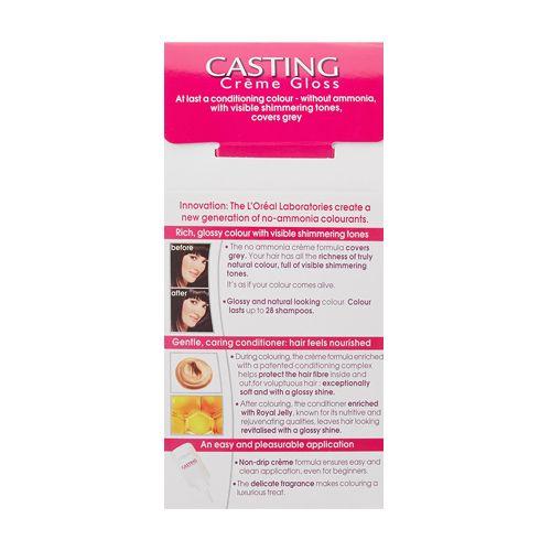 Loreal Paris Loreal Paris Casting Creme Gloss Hair Colour Ebony Black 200 87.5 gm + 72 ml, 87.5 gm + 72 ml