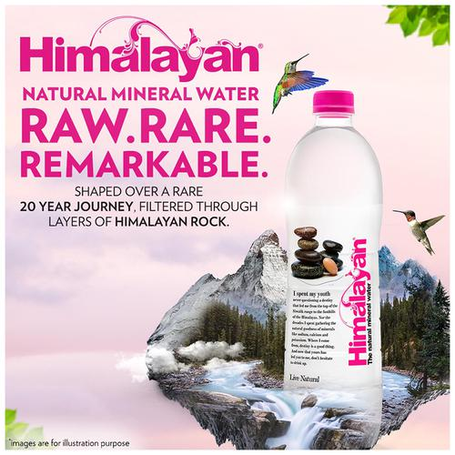 Himalayan Natural Mineral Water, 1 L Bottle