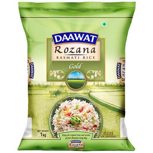 Daawat  Basmati Rice/Basmati Akki - Rozana Gold, 1 kg Pouch