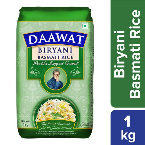 Daawat  Basmati Rice - Biryani, 1 kg Pouch