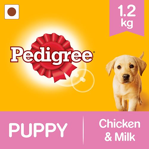 Pedigree Daily Food for Puppy - Chicken and Milk, 1.2 kg By Bigbasket @ Rs.220