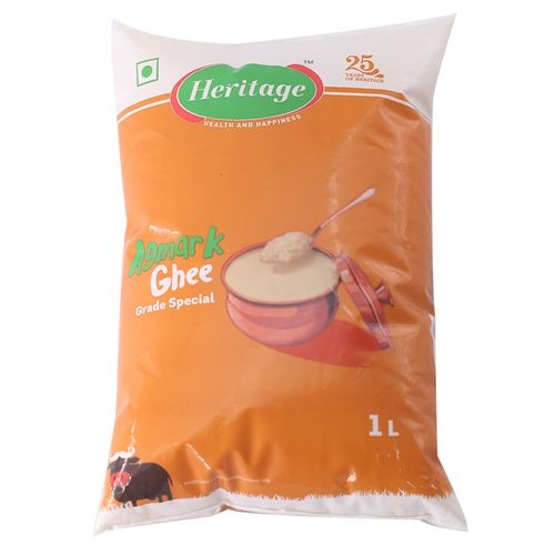 Heritage Buffalo Ghee - Special Grade with Milk Fat, 1000 ml Pouch