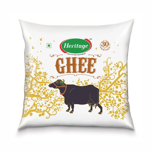 Heritage Buffalo Ghee - Special Grade with Milk Fat, 500 ml Pouch