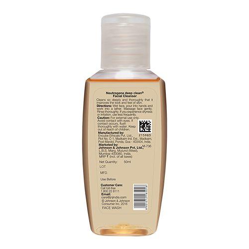 Neutrogena Deep Clean Facial Cleanser, 50 ml