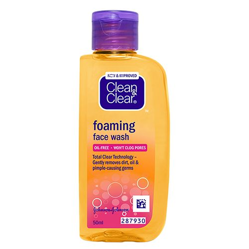 Clean & Clear Foaming Face Wash, 50 ml