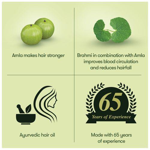 Bajaj Ayurvedic Hair Oil - Brahmi Amla, 180 ml