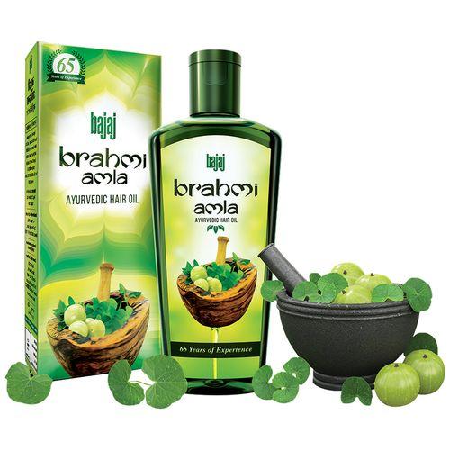 Bajaj Ayurvedic Hair Oil - Brahmi Amla, 90 ml