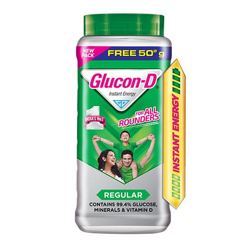 Glucon-D Beverage Mix - Glucose Based, 450 gm Get 50 gm Free