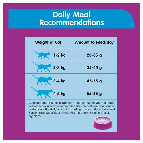 Whiskas Cat Food - Dry, Ocean Fish Flavour, For Adult, +1 Year, 480 gm