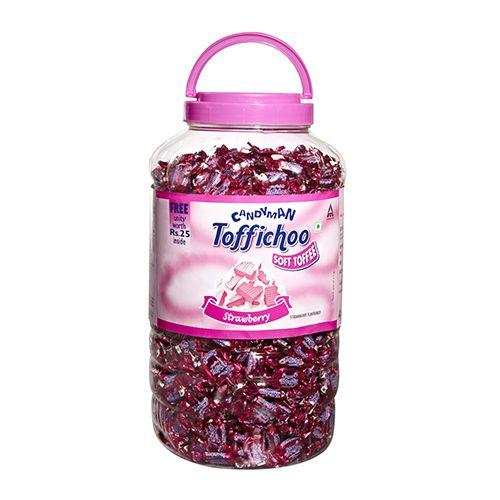 Candyman Chocolate - Toffichoo (Strawberry Flavor), 775 gm Jar