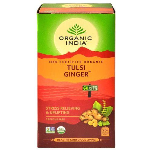 ORGANIC INDIA Infusion Bags - The Original Tulsi Ginger, 25 pcs Carton