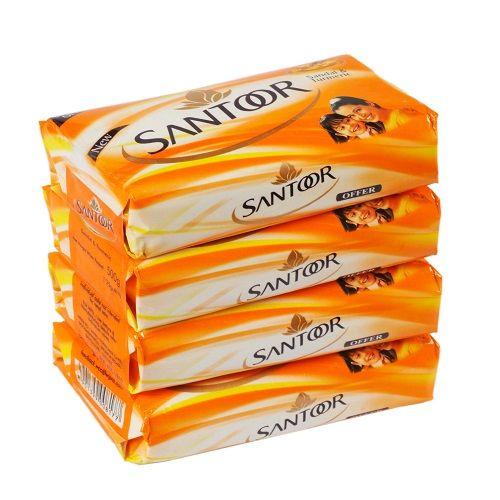 Santoor Bathing Soap - Sandal & Turmeric, 75 gm Pack of 4
