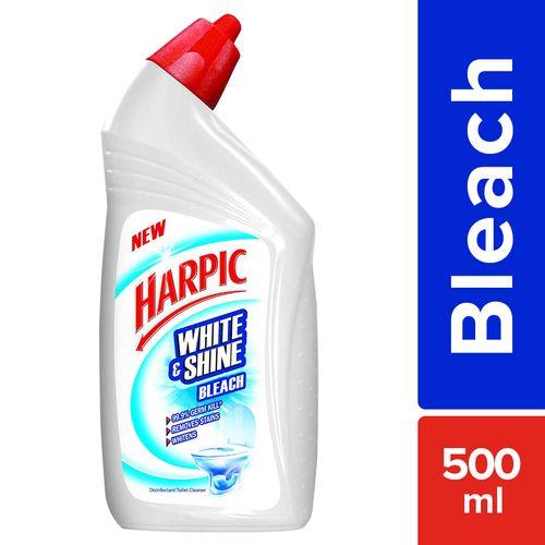 Buy Harpic Toilet Cleaner Bleach White Shine 500 Ml Online