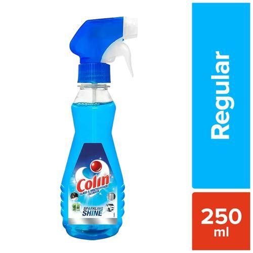Colin Cleaner Liquid Spray Bottle - Cleans Mirror, Car & Home Appliances, 250 ml