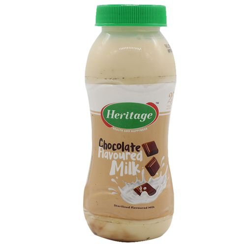 Heritage Flavored Milk - Chocolate, 200 ml Bottle