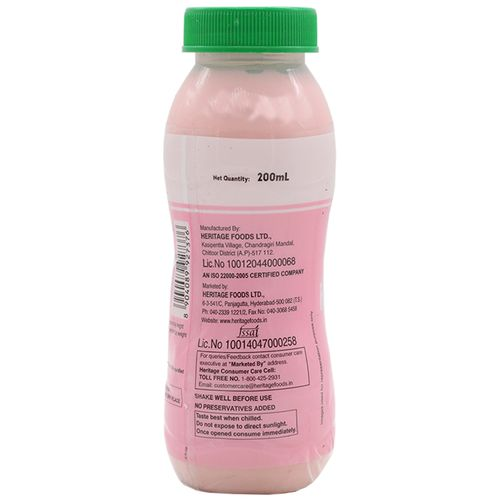Heritage Flavoured Milk - Strawberry, 200 ml Bottle