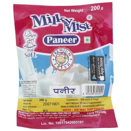 Milky Mist Paneer - Premium Fresh, 200 g Pouch