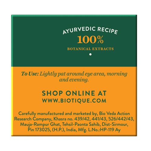 BIOTIQUE Bio Almond - Soothing & Nourishing Eye Cream, 15 gm Carton