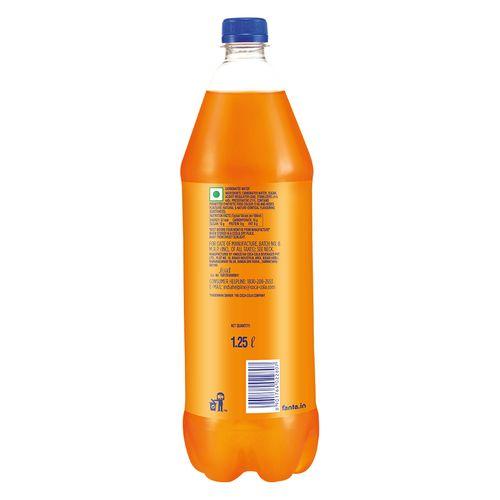 Fanta Soft Drink - Orange Flavoured, 1.25 lt PET Bottle