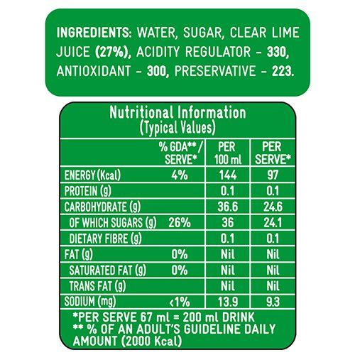 Kissan Juice - Lime Cordial, 750 ml Bottle