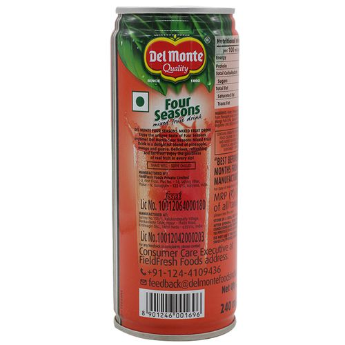 Del Monte Drink - Four Seasons Mixed Fruit, 100%, 240 ml Tin