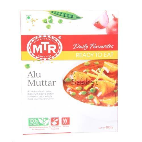 MTR Ready To Eat - Alu Muttar, 300 gm Carton