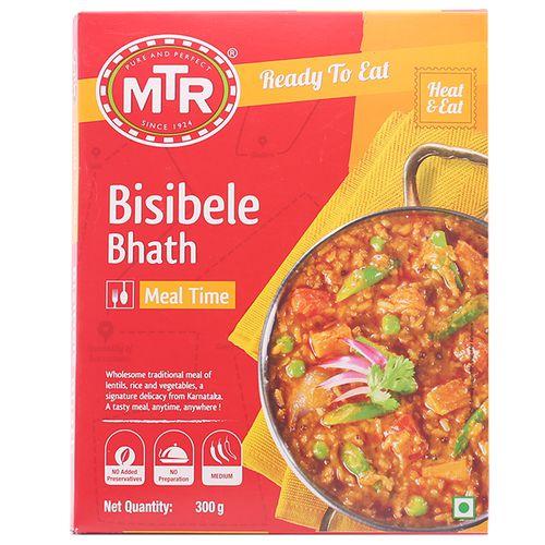 MTR Ready To Eat - Bisibele Bhath, 300 g Carton