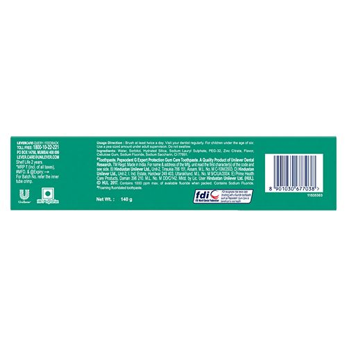 Buy Pepsodent Toothpaste Gum Care Expert Protection 140 Gm