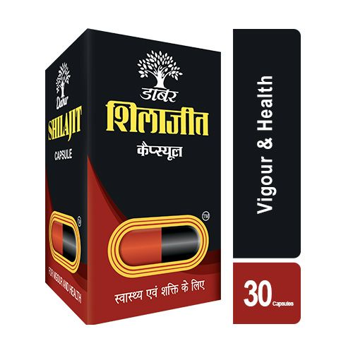 Dabur Shilajit for vigour & health, 30 Capsules