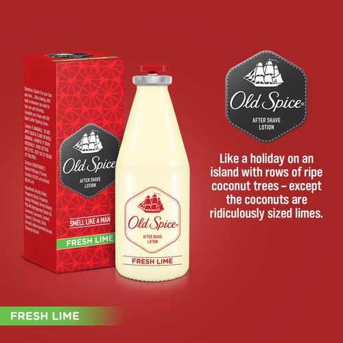 Old Spice Fresh Lime After Shave Lotion, 50 ml