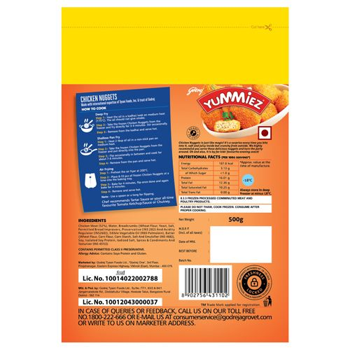 Buy Yummiez Nuggets Chicken 500 Gm Pouch Online At Best