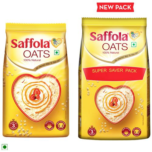 Saffola Oats - 100% Natural, 500 g Pouch