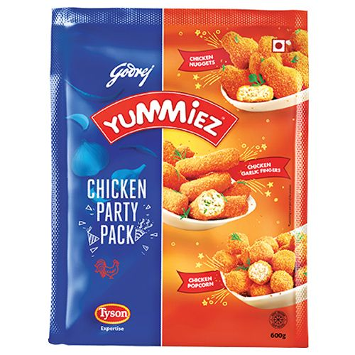 Yummiez Chicken Nuggets - Nonveg Party Pack, 600 g Pouch